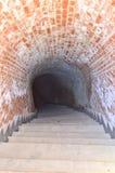 Hemlig tunnel - Carolina citadell i Alba Iulia, Rumänien Arkivfoto