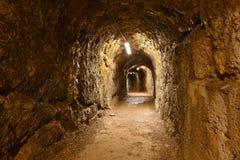 Hemlig tunnel i slottet Kufstein - Österrike Arkivbilder