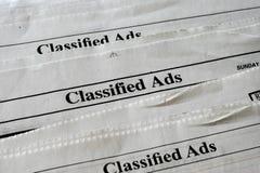 hemliga annonser Arkivbild