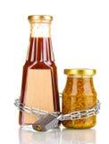 Hemliga ingredienser med kedjan och padlocken Royaltyfri Foto