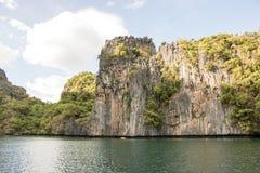 Hemliga lagunklippor, El Nido, Filippinerna Arkivfoto