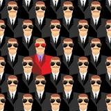 Hemliga medel En spion bland medel Sömlös modellpepople royaltyfri illustrationer