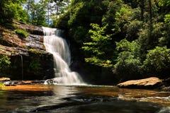 Hemliga nedgångar på stor stimslinga i North Carolina Royaltyfria Bilder