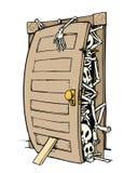 hemliga skelett royaltyfri illustrationer