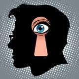 Hemliga tankar av spionage vektor illustrationer