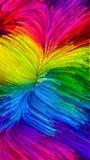 Hemligheter av färgrik målarfärg Arkivbild