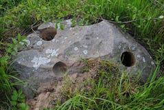 Hemligheter av forntida civilisationer: hålet i stenen _ Arkivfoto