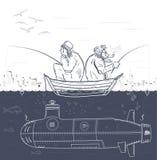 Hemligt fiske Arkivbild