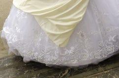 Hemline bielu suknia Obraz Stock