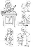 hemmafru Stock Illustrationer