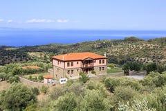Hemman på den Aegean kusten Arkivbilder