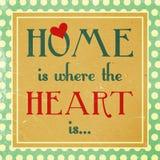 Hemmet är var hjärta är Arkivbild