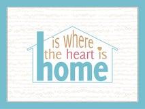 Hemmet är var hjärtan är Arkivbild