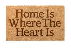 Hemmet är var hjärtan är välkomna Mat On White Fotografering för Bildbyråer