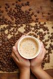 Hemmet är var kaffet är Fotografering för Bildbyråer