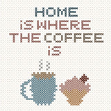 Hemmet är var kaffet märker Arkivbild