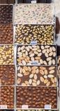Hemmet gjorde chokladstänger som bakgrund Royaltyfri Fotografi