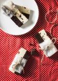 Hemmet gjorde duett för chokladstänger Fotografering för Bildbyråer