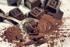 Hemmet gjorde mörk choklad Royaltyfri Fotografi