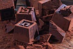 Hemmet gjorde mörk choklad Royaltyfri Foto