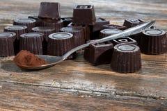 Hemmet gjorde mörk choklad Fotografering för Bildbyråer