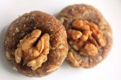 Hemmet gjorde sötsaker med valnötter Fotografering för Bildbyråer