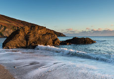 Hemmick Beach on the Cornwall Coast Royalty Free Stock Photo