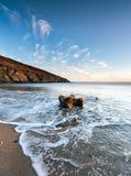Hemmick Beach in Cornwall Stock Photo