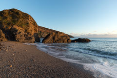 Hemmick Beach in Cornwall Stock Images