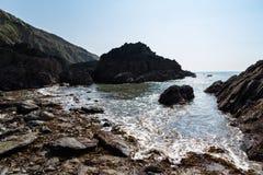 Hemmick Beach Cornwall Royalty Free Stock Photos
