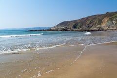 Hemmick strand Cornwall Arkivbilder