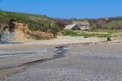 Hemmick strand Cornwall Fotografering för Bildbyråer