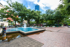 Hemming Park em Jacksonville, Florida Foto de Stock