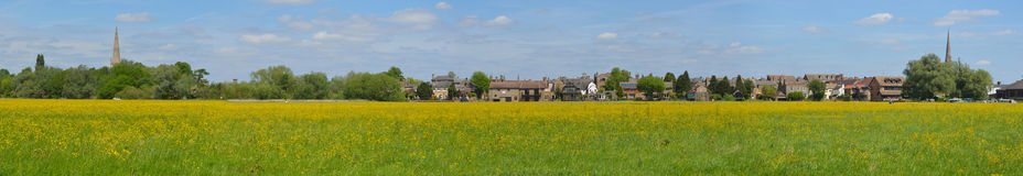 Hemmingford water meadow and St Ives stock photo