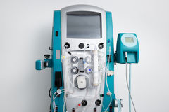 Hemodialysis machine with tubing and installations Royalty Free Stock Photography
