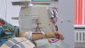 Hemodialysis Maszynowy sztuczny cynaderki zdjęcie wideo