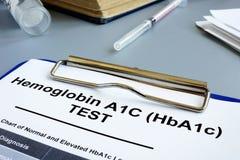 Free Hemoglobin A1C HbA1c Test Form Stock Image - 151992001