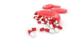 Hemoglobin stuffed with capsules Stock Photos