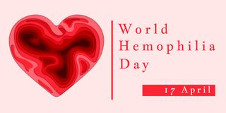 Hemophilia World Day Poster. Emblem medical sign for 17 april. World blood donor day. Vector illustration.  royalty free illustration