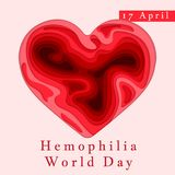 Hemophilia World Day Poster. Emblem medical sign for 17 april. World blood donor day. Vector illustration.  vector illustration