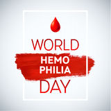 Hemophilia World Day Stroke Poster. Royalty Free Stock Image