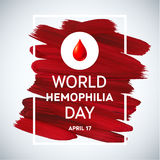 Hemophilia World Day Stroke Poster. Royalty Free Stock Photos