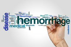 Hemorrhage word cloud Stock Photography