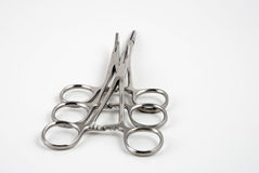 Hemostats and clamps Stock Photos