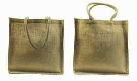 Hemp bag isolated Stock Photography