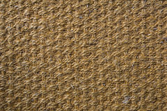 Hemp carpet, Sisal background sisal texture. Hemp carpet on Cement floor. Detail texture for background or wallpaper Royalty Free Stock Photos