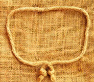 Hemp cloth with rope texture background Stock Photography