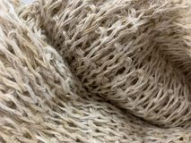 Hemp fiber, woven from natural fibers into fabrics Hand-made products from villagers. Thailand royalty free stock images