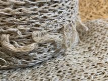 The Hemp fibers and texture wrapped in rolls as natural background. Hemp fibers and texture wrapped in rolls as natural background stock photo