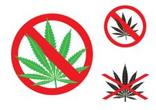 The hemp is forbidden Royalty Free Stock Photos